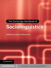 The Cambridge Handbook of Sociolinguistics ebook by Rajend Mesthrie