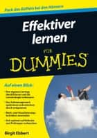 Effektiver lernen für Dummies ebook by Birgit Ebbert