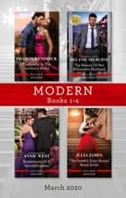 Modern Box Set 1-4 March 2020/Cinderella in the Sicilian's World/The Return of Her Billionaire Husband/Revelations of a Secret Princess/The ebook by Sharon Kendrick, Melanie Milburne, Julia James,...
