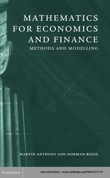 mathematics for economics and finance ebook by martin anthony