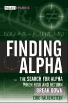 Finding Alpha ebook by Eric Falkenstein