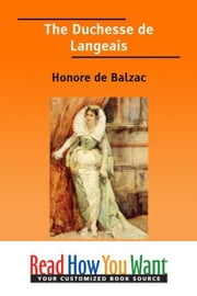 The Duchesse De Langeais ebook by Balzac Honore de
