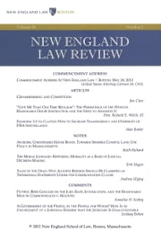 New England Law Review: Volume 48, Number 1 - Fall 2013 ebook by New England Law Review