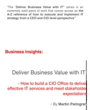 Business Insights: Deliver Business Value with IT! – How to build a CIO Office to deliver effective IT services and meet stakeholder expectations ebook by Martin Palmgren