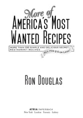 More of America's Most Wanted Recipes ebook by Ron Douglas