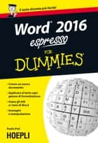 Word 2016 espresso For Dummies ebook by Paolo Poli