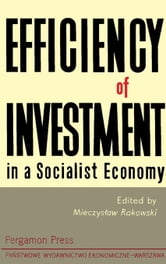 Efficiency of Investment in a Socialist Economy ebook by Rakowski, Mieczyslaw