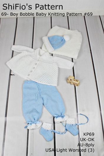 69- Boy Bobble Baby Knitting Pattern #69 ebook by ShiFio's Patterns