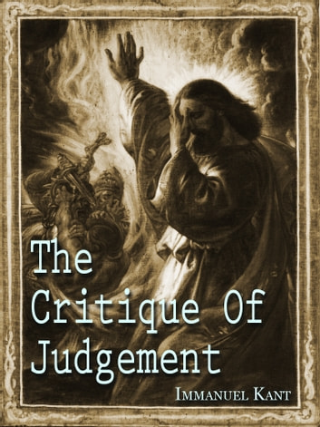 The Critique Of Judgement ebook by Immanuel Kant