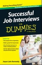 Successful Job Interviews For Dummies - Australia / NZ ebook by Kate Southam, Joyce Lain Kennedy
