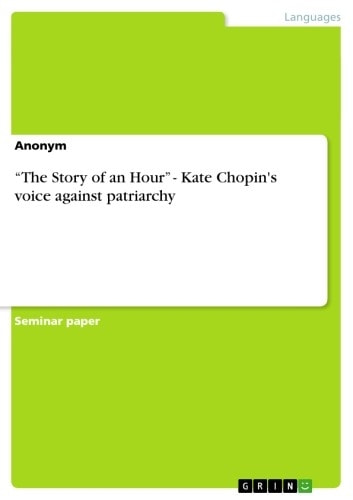 story hour kate chopin 6 Kate chopin's story of an hour efore reading the story,  do not read further in this study guide until you have completed your first reading of the story.
