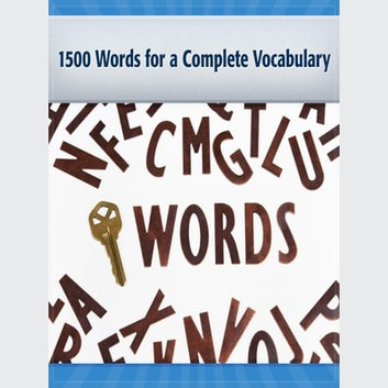 1500 Words for a Complete Vocabulary audiobook by Deaver Brown