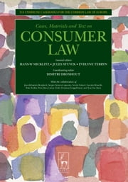 Consumer Law - Ius Commune Casebooks for a Common Law of Europe ebook by Hans-W Micklitz,Jules Stuyck,Evelyn Terryn