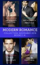 Modern Romance November Books 1-4: The Italian's Christmas Housekeeper / The Innocent's Shock Pregnancy / A Ring to Claim His Legacy / Sheikh's Secret Love-Child eBook by Sharon Kendrick, Carol Marinelli, Rachael Thomas,...