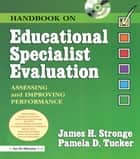 Handbook on Educational Specialist Evaluation ebook by James Stronge,Pamela Tucker