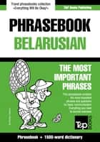 English-Belarusian phrasebook and 1500-word dictionary ebook by Andrey Taranov