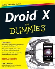 Droid X For Dummies ebook by Dan Gookin