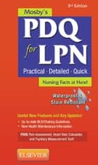 Mosby's PDQ for LPN ebook by Mosby