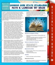Common Core State Standards: Math And Language 1st Grade - (Speedy Study Guides) ebook by Speedy Publishing