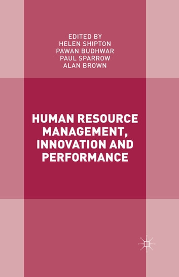 Human Resource Management, Innovation and Performance ebook by