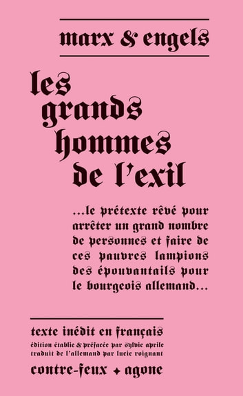 Les Grands Hommes de l'exil ebook by Karl Marx,Friedrich Engels