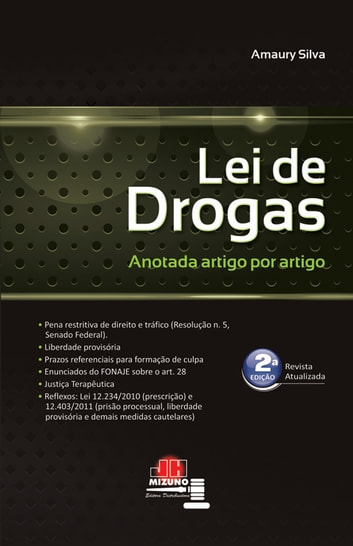 Lei de drogas anotada ebook by Amaury Silva