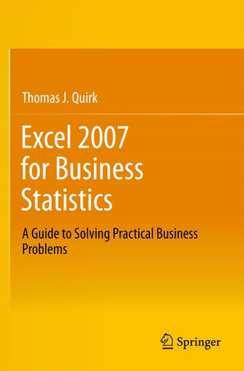 excel 2007 for business statistics ebook by thomas j quirk rh kobo com Excel 2000 Excel 2007 Icon