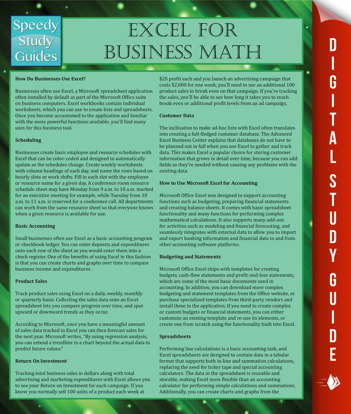 Excel For Business Math eBook by Speedy Publishing - 9781634289160 ...