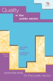 Quality in the Public Sector ebook by Jennifer Bean,Lascelles Hussey