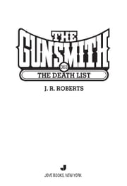 The Gunsmith #363 - The Death List ebook by J. R. Roberts