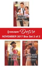 Harlequin Desire November 2017 - Box Set 2 of 2 - Twins for the Billionaire\Expecting a Lone Star Heir\Twelve Nights of Temptation ebook by Sarah M. Anderson, Sara Orwig, Barbara Dunlop
