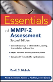 Essentials of MMPI-2 Assessment ebook by David S. Nichols,Alan S. Kaufman