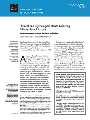Sexual harassment in the military research paper