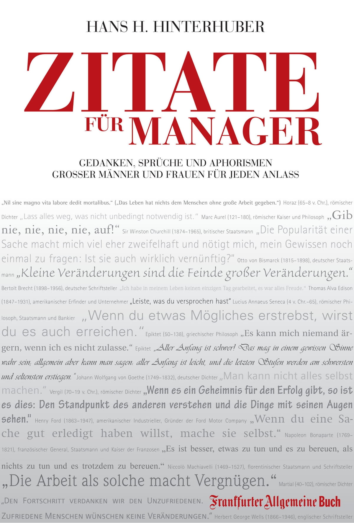 Zitate Für Manager Ebook By Hans H Hinterhuber Rakuten Kobo