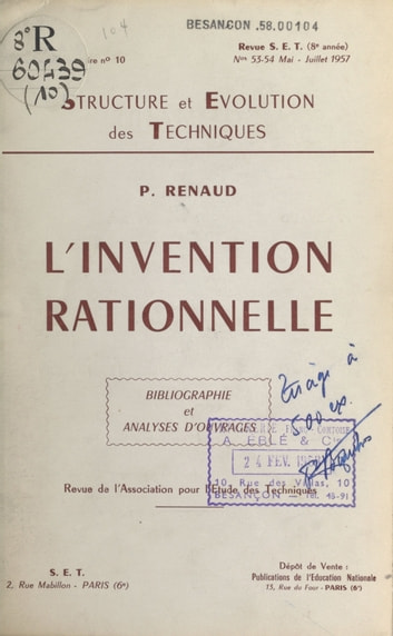 L'invention rationnelle - Bibliographie et analyses d'ouvrages ebook by Paul Renaud