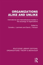 Organizations Alike and Unlike (RLE: Organizations) - International and Inter-Institutional Studies in the Sociology of Organizations ebook by Cornelis J. Lammers,David Hickson