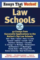 Essays That Worked for Law Schools (Revised) ebook by Boykin Curry,Brian Kasbar