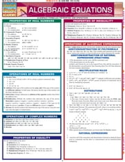 Algebraic Equations ebook by BarCharts,Inc