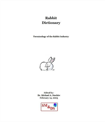 Rabbit Dictionary - Terminology of the Rabbit Industry ebook by Dr. Michael Stachiw