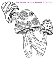 Dreamy Mushroom Studio Colouring Book #1: Collectors Edition