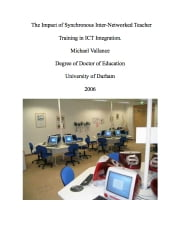 The Impact of Synchronous Inter-Networked Teacher Training in ICT Integration. ebook by Dr. Michael Vallance