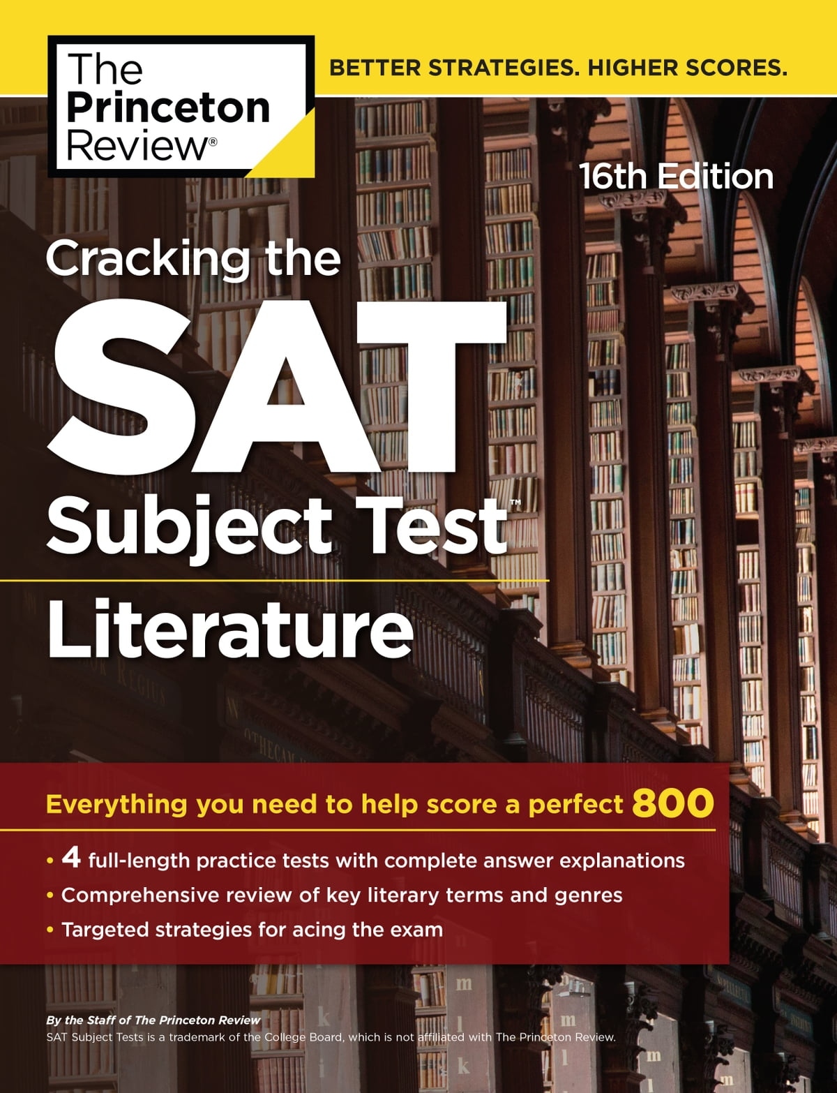 Cracking the SAT Subject Test in Literature, 16th Edition eBook by Princeton  Review - 9781524710941 | Rakuten Kobo