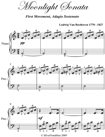 moonlight sonata free piano sheet music pdf