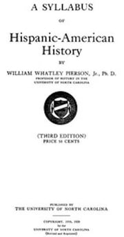 A Syllabus of Hispanic-American History (Illustrated) ebook by William Whatley Pierson