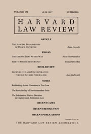 Harvard Law Review: Volume 130, Number 8 - June 2017 ebook by Harvard Law Review
