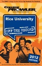 Rice University 2012 ebook by Meenakshi Awasthi