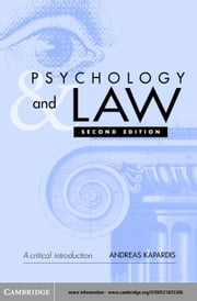 Psychology and Law ebook by Kapardis, Andreas
