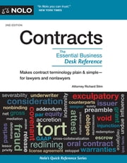 Contracts - The Essential Business Desk Reference ebook by Richard Stim
