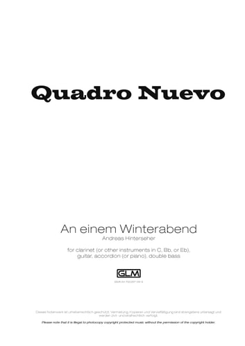 An einem Winterabend - Sheet Music ebook by Andreas Hinterseher