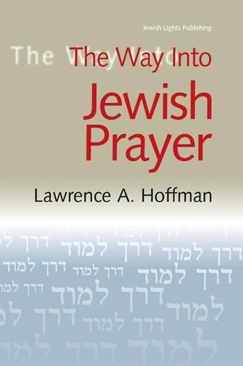 The Way Into Jewish Prayer ebook by Lawrence A. Hoffman,
